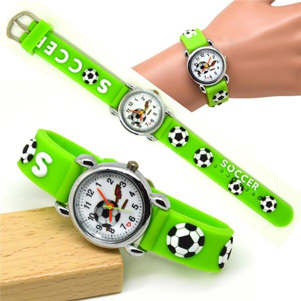 サッカーボール柄のキッズカラフル腕時計 1本【画像7】