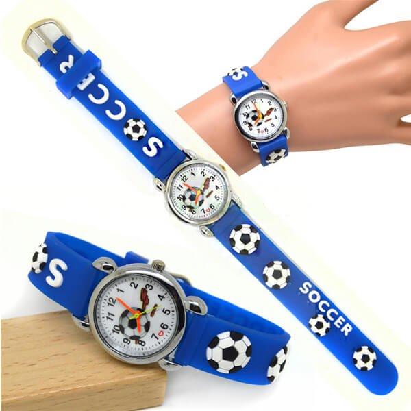 サッカーボール柄のキッズカラフル腕時計 1本【画像8】