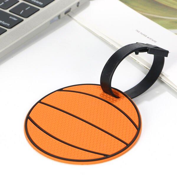 存在感抜群で可愛い バスケットボール型のネームワッペン(迷子札)【画像4】