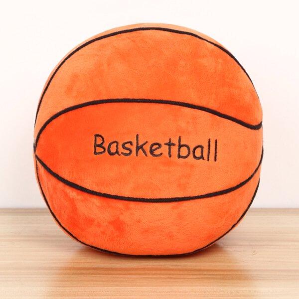 バスケットボール型 やわらかクッション枕(濃いオレンジ)