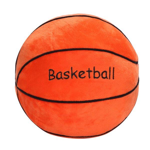バスケットボール型 やわらかクッション枕(濃いオレンジ)【画像5】