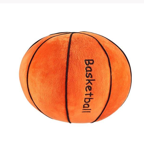 バスケットボール型 やわらかクッション枕(濃いオレンジ)【画像6】