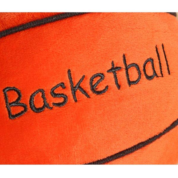 バスケットボール型 やわらかクッション枕(濃いオレンジ)【画像7】