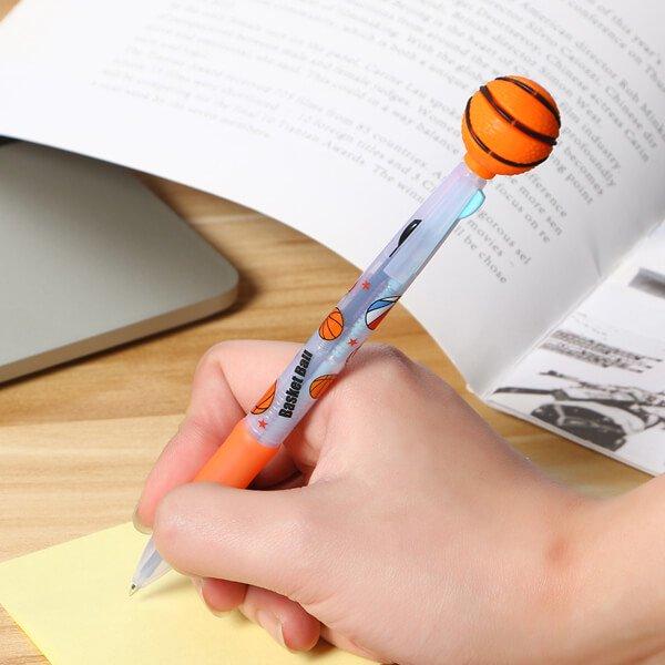 セットがお得 バスケットボール付き 可愛いバスケ柄のオリジナル3色ボールペン 単価158円〜【画像6】