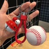 よくばりキーホルダー イルミネーション野球ボール (大きい鈴/小さい鈴/大繩/フック)