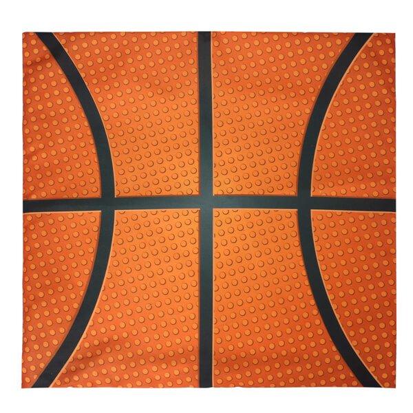 全体がバスケットボール柄の「バスケットボールのクッションカバー」 (カバーのみ)
