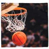 バスケグッズ 金額で選択  バスケットボールとバスケットゴールの「バスケ柄クッションカバー」 (カバーのみ)