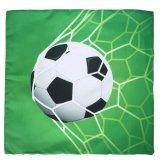 サッカーボールグッズ・雑貨 サッカーボールがゴールネットに突き刺さった「サッカー柄のクッションカバー」 (カバーのみ)