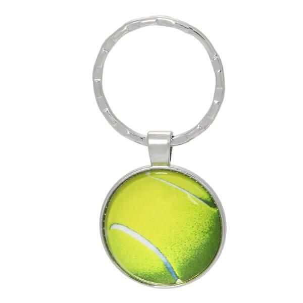 艶々テニスボールのフラットキーホルダー