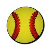 野球ボール柄のフラットラバーマグネット