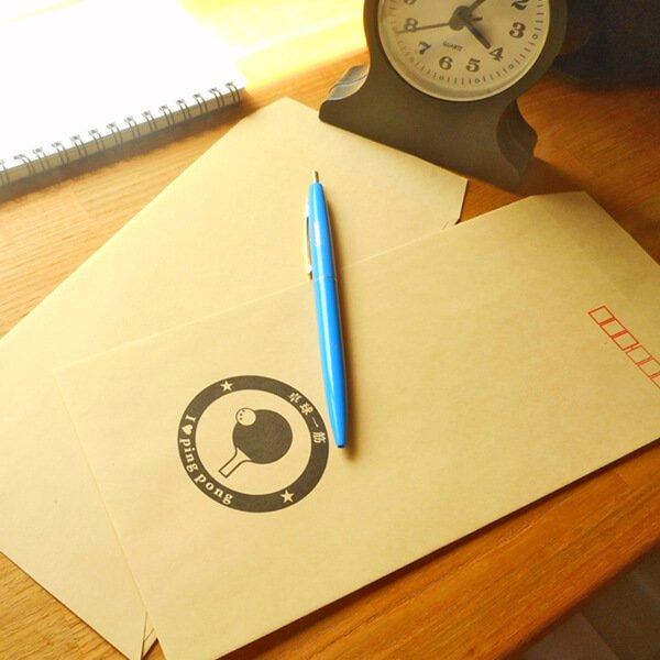 卓球柄を入れたオリジナル封筒 5枚セット