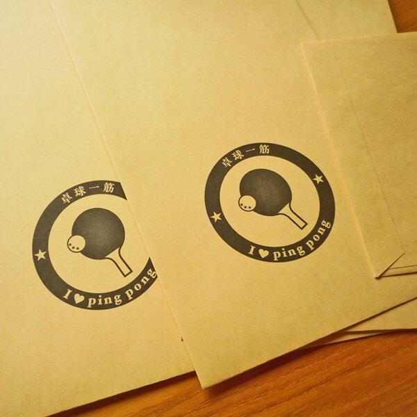 卓球柄を入れたオリジナル封筒 5枚セット【画像2】