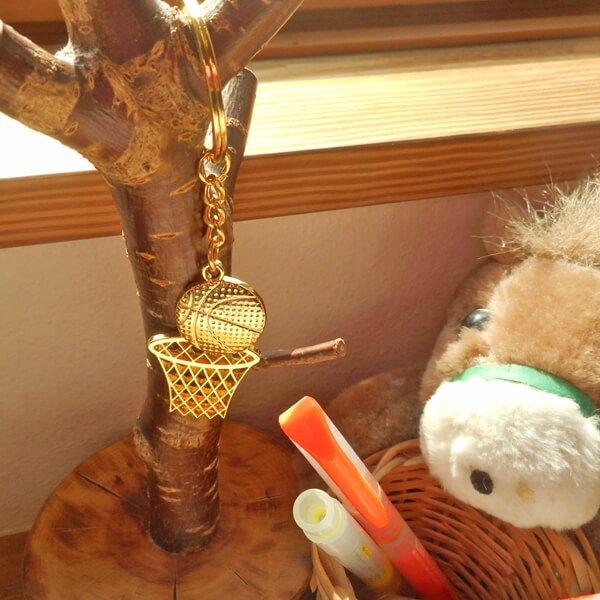 バスケのゴールドキーホルダー ゴールとボール【画像4】
