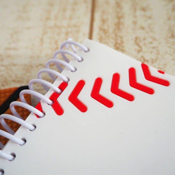 期間・数量限定のクリスマスセール 野球ボール柄 リング付きミニメモ帳(ボール部分が可愛いゴム)【画像3】