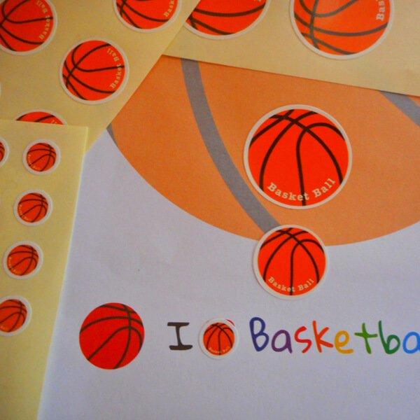 便利なマルチバスケットボールシール 1シート【画像3】