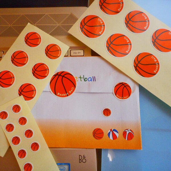 便利なマルチバスケットボールシール 1シート【画像4】