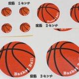 便利なマルチバスケットボールシール 1シート