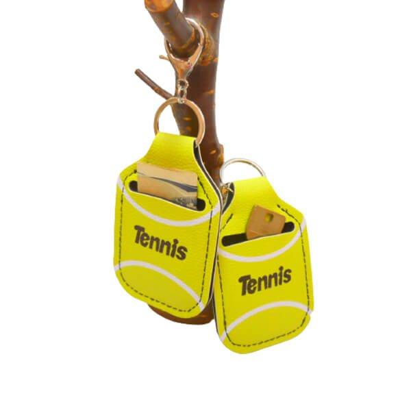 テニスボール柄 フック付き携帯消毒液ホルダー【画像6】