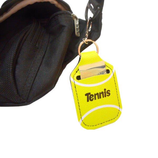テニスボール柄 フック付き携帯消毒液ホルダー【画像7】