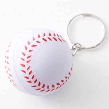 卒業期間限定セール  やわらかキーホルダー 野球ボール(大) 単価76円〜