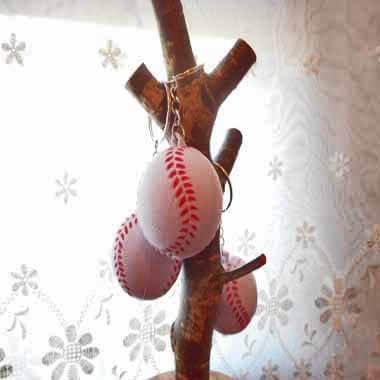 卒業期間限定セール  やわらかキーホルダー 野球ボール(大) 単価76円〜【画像3】