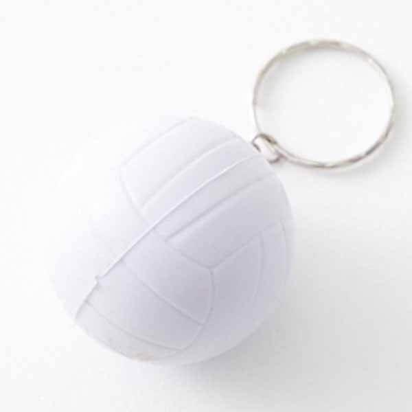 卒業期間限定セール やわらかいバレーボールキーホルダー(カラー白)