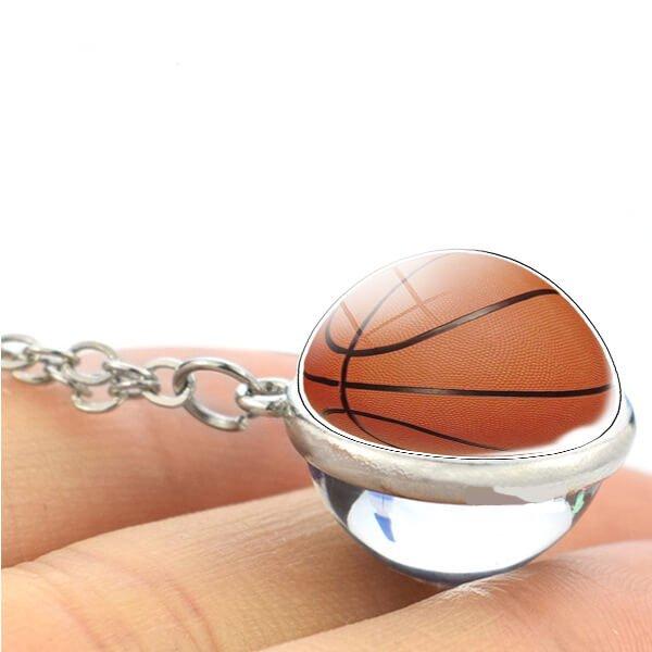 サークルバスケットボールネックレス