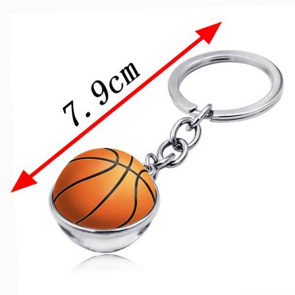 サークルクリスタルキーホルダー バスケットボール【画像5】