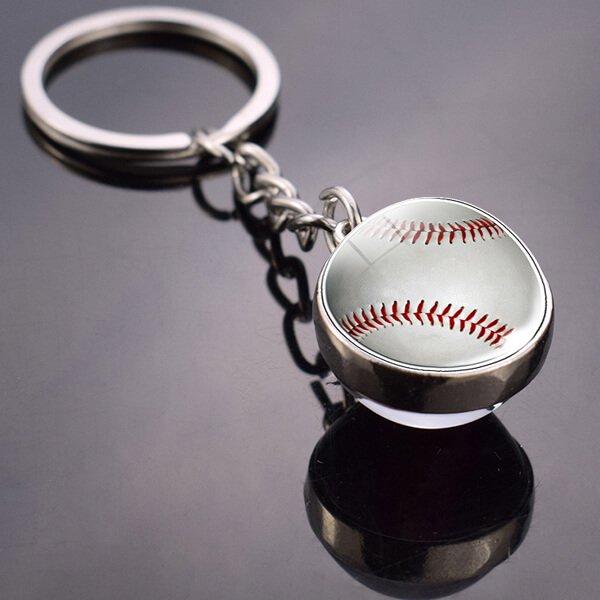 サークルクリスタルキーホルダー 野球のボール