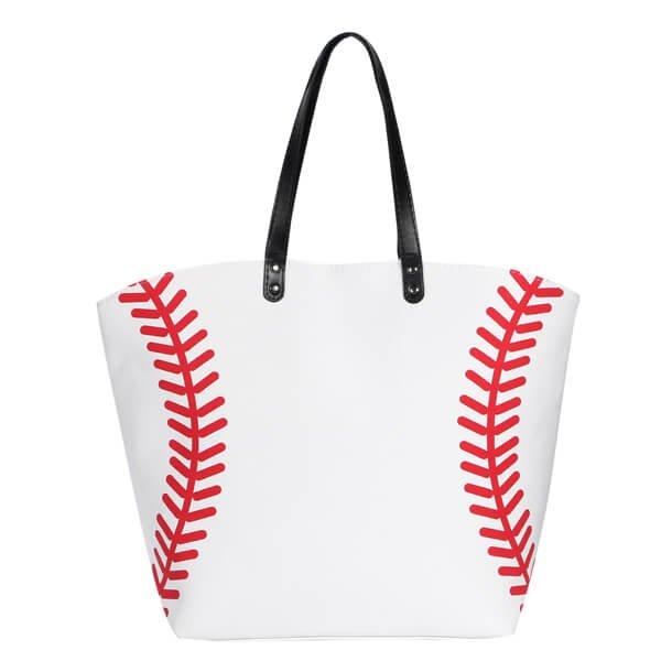 野球ボール柄ビッグトートバッグ