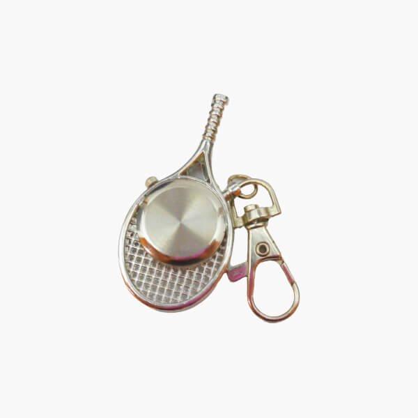 フック付きテニスラケット型懐中時計(シルバー)【画像4】