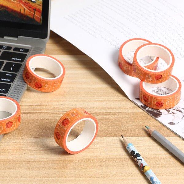 セットがお得 バスケットコート柄のオリジナルマスキングテープ(単価115円〜)【画像5】