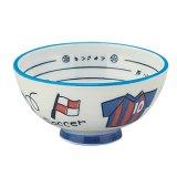 サッカー金額選択800円まで(税抜)  楽しく食事ができるサッカー柄の子供茶碗