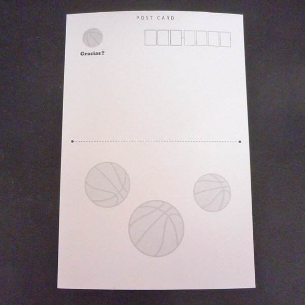 セットがお得 バスケットボール柄ポストカード 1枚 (グラシアスオリジナル)【画像18】