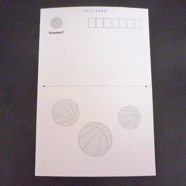 セットがお得 バスケットボール柄ポストカード 1枚 (グラシアスオリジナル)【画像19】