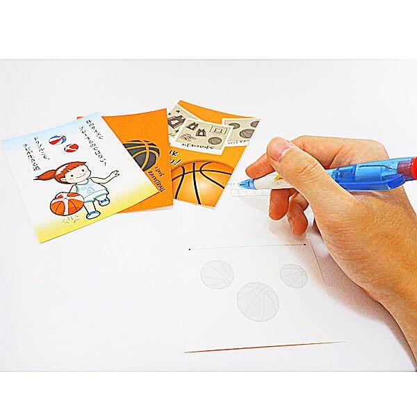 セットがお得 バスケットボール柄ポストカード 1枚 (グラシアスオリジナル)【画像21】