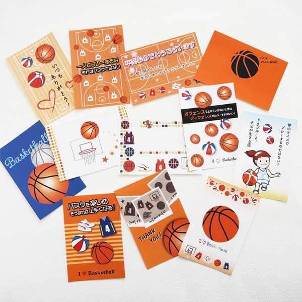 セットがお得 バスケットボール柄ポストカード 1枚 (グラシアスオリジナル)【画像6】
