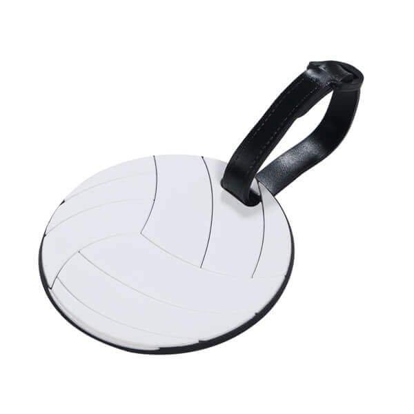 大きいサイズで目立ちやすいバレーボール型のネームワッペン
