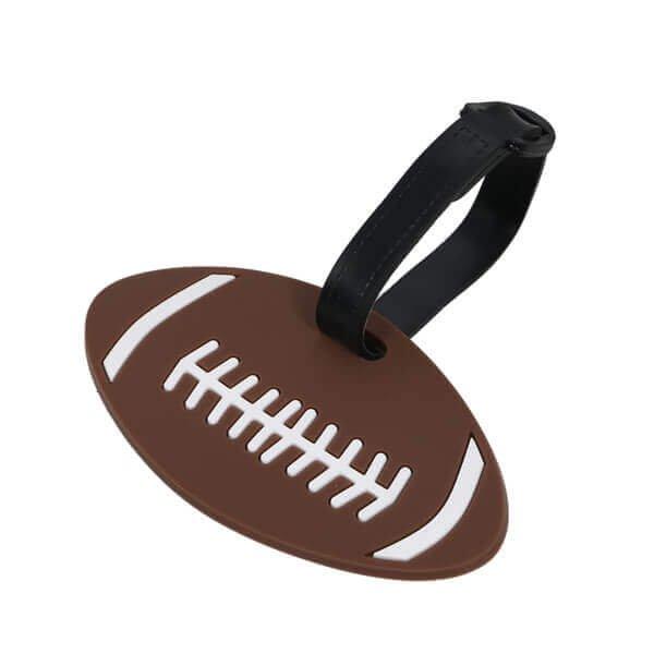 大きいサイズで目立ちやすいアメフトボール型のネームワッペン
