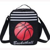 バスケットボール柄のアトラクティブブラックショルダーバッグ