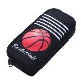 バスケットボール柄のアトラクティブブラックペンケース