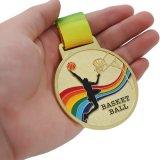 バスケ金額選択 800円まで(税抜)  バスケットボール柄のカラフル金メダル
