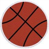 大きいバスケットボールみたいな丸型ビーチタオル