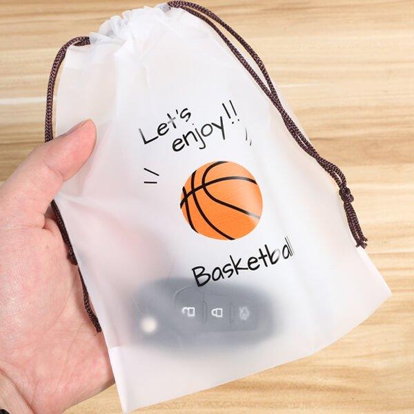 セットがお得 便利なミニビニール巾着袋 オリジナルバスケットボール柄 単価34円〜【画像2】