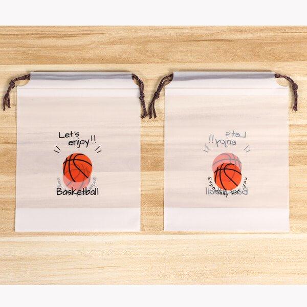 セットがお得 便利なミニビニール巾着袋 オリジナルバスケットボール柄 単価34円〜【画像4】