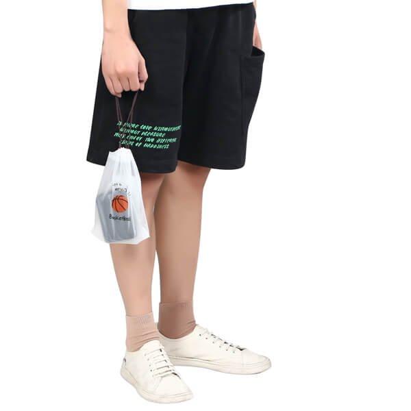 セットがお得 便利なミニビニール巾着袋 オリジナルバスケットボール柄 単価34円〜【画像5】