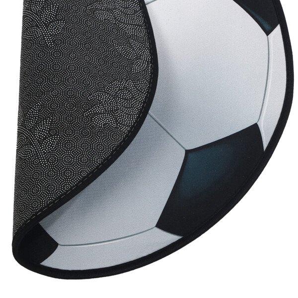 サッカーボール型マット シンプルな白黒タイプ【画像2】