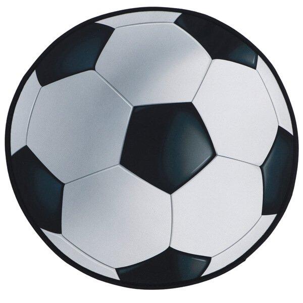 サッカーボール型マット シンプルな白黒タイプ【画像3】