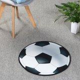 サッカーボール型マット シンプルな白黒タイプ