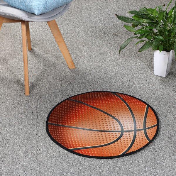 バスケットボール型マット 点々があるリアルタイプ
